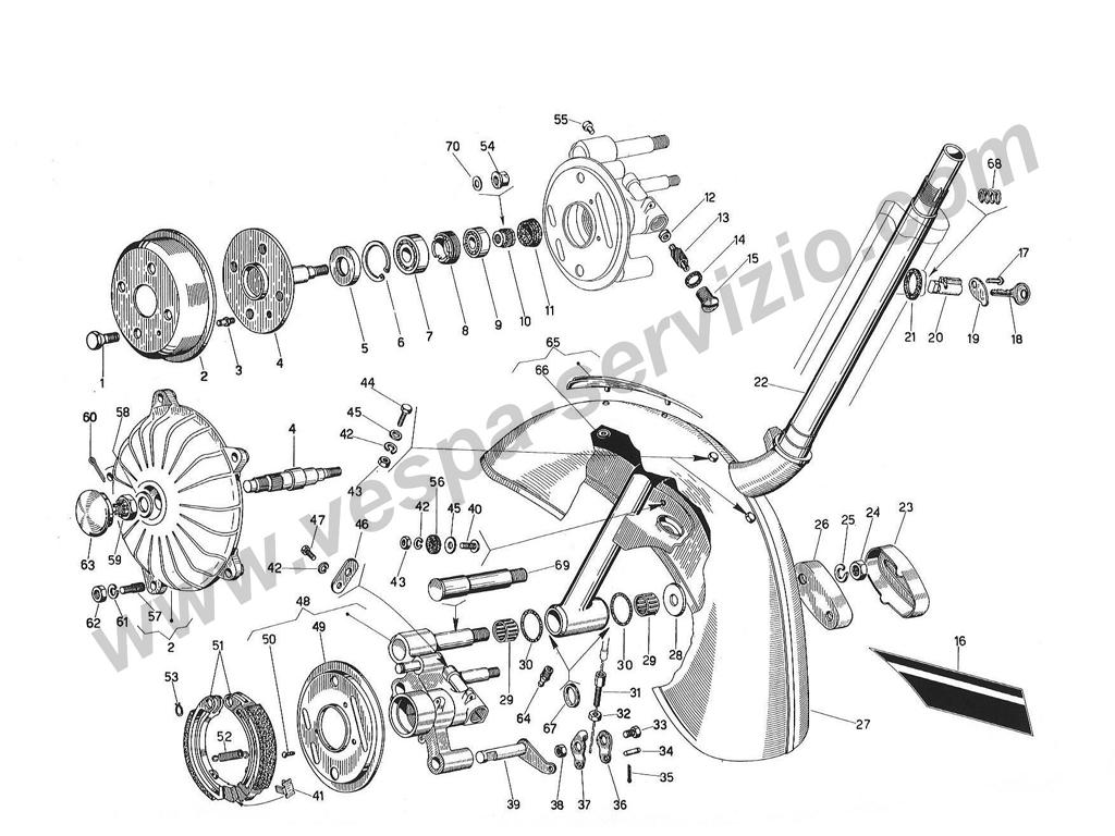 schemi  esplosi  tavole delle parti motore e carrozzeria vespa  u00bb vespa servizio