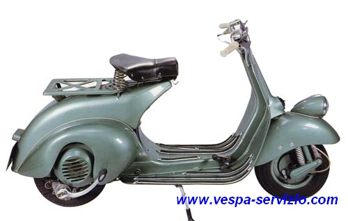 Vespa 125 Cambio a Cavi 1951-1952 (V30T - V33T)